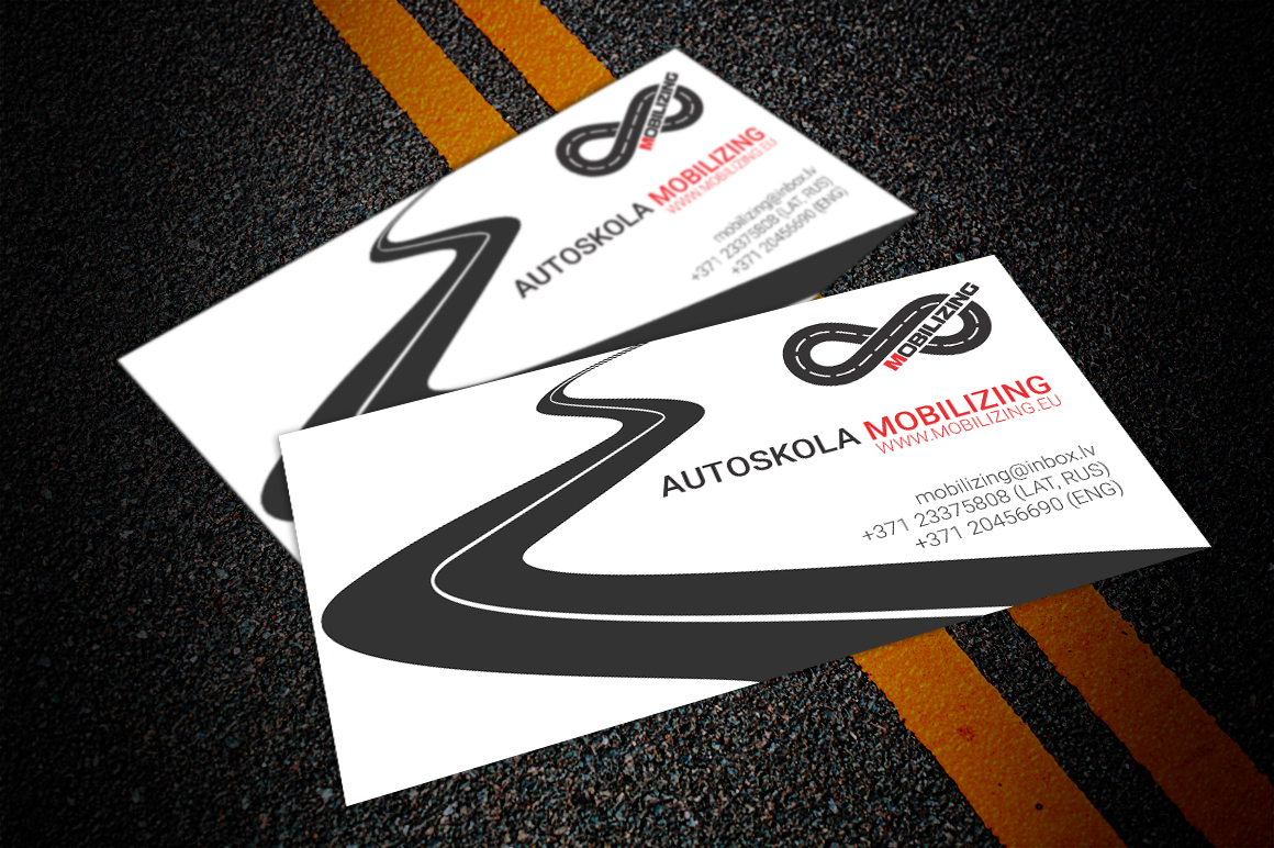 Business Cards For Driving School Mobilizing