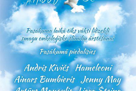 "Charity Concert ""Dziesma ir dzīvība"" poster"
