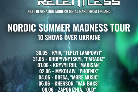 """Event Relentless"" Ukraine tour poster"