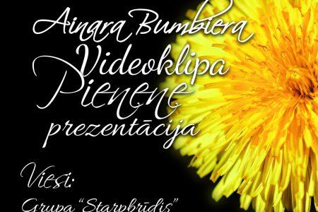 """Ainara Bumbiera videoklipa """"Pienene"""" prezentācijas afiša"""