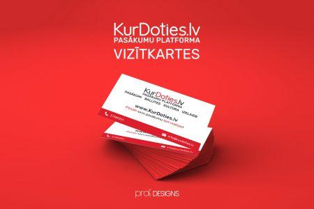 KurDoties.lv business card design