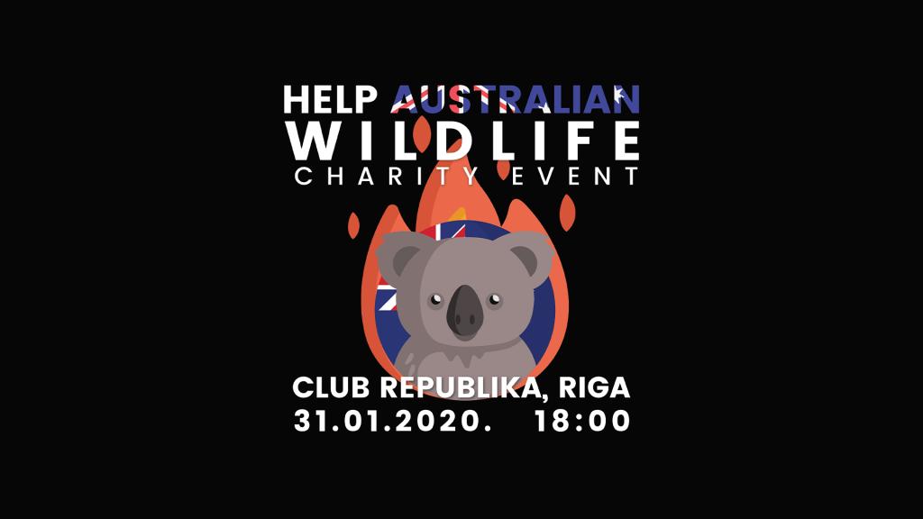 """Labdarības kampaņas """"Palīdzēsim Austrālijas savvaļai"""" vizualizācija"""