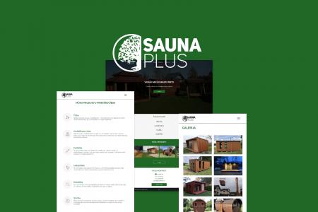 """Sauna Plus"" website design & development"