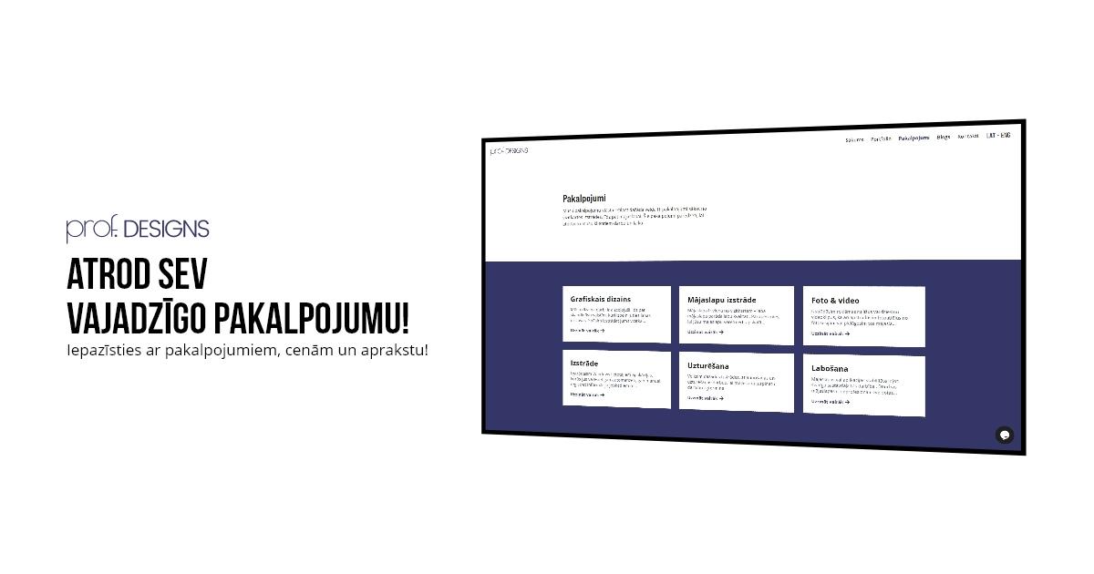 prof. designs pakalpojumi