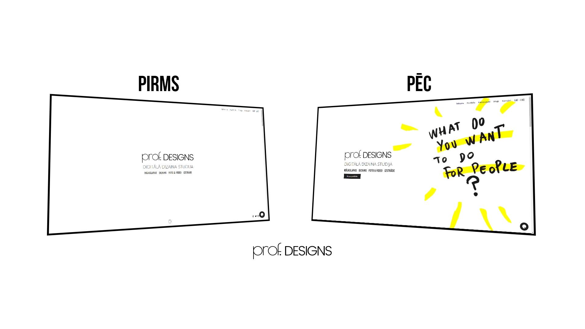 prof. designs pārmaiņas